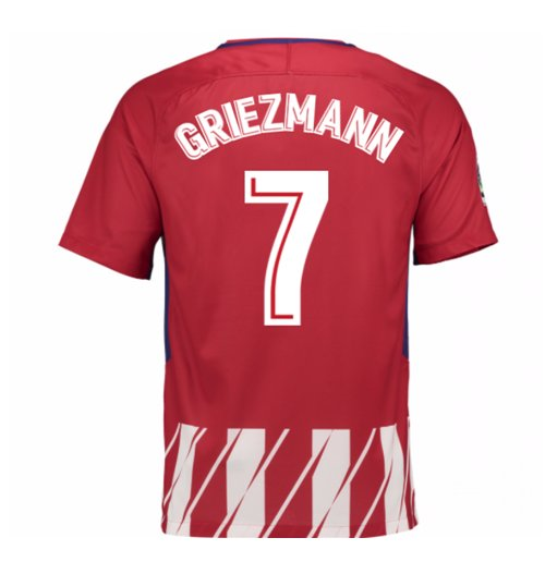 2017-2018 Atletico Madrid Home Shirt (Griezmann 7) - Kids