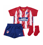 2017-2018 Atletico Madrid Home Nike Baby Kit