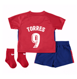2017-2018 Atletico Madrid Home Baby Kit (Torres 9)