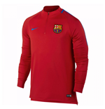 2017-2018 Barcelona Nike Drill Training Top (Red)
