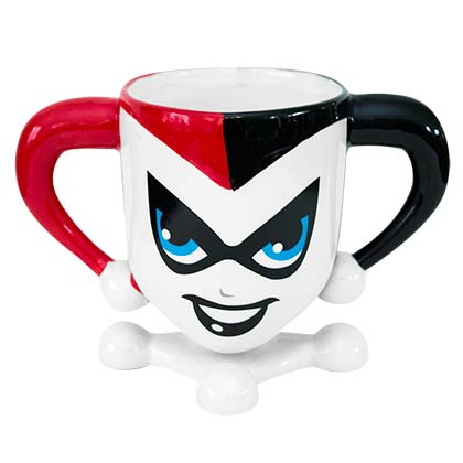 HARLEY QUINN Molded Coffee Mug