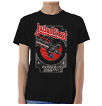 Judas Priest Men's Tee: Silver and Red Vengeance