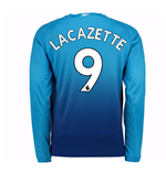 2017-2018 Arsenal Away Long Sleeve Shirt (Lacazette 9)