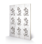 Mickey Mouse Print on wood 272444