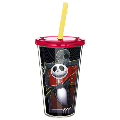 4514ebd08af NIGHTMARE BEFORE CHRISTMAS Tumble Cup With Straw