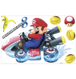 Nintendo Giant Vinyl Wall Decal Set Mario Kart 8
