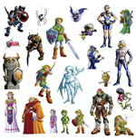 The Legend of Zelda Giant Vinyl Wall Decal Set Ocarina of Time 3D