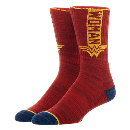 WONDER WOMAN Vertical Men's Crew Socks