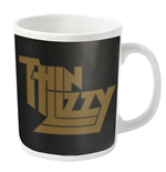Thin Lizzy Mug Gold Logo (WHITE)