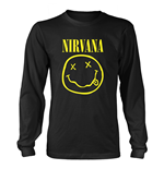 Nirvana Long Sleeves T-shirt Smiley Logo