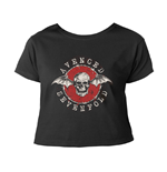 Avenged Sevenfold T-shirt Bat Skull Red (CROPPED)
