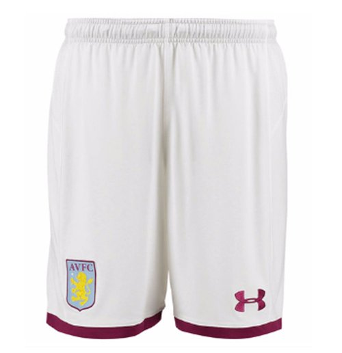 2017-2018 Aston Villa Home Football Shorts (White) - Kids