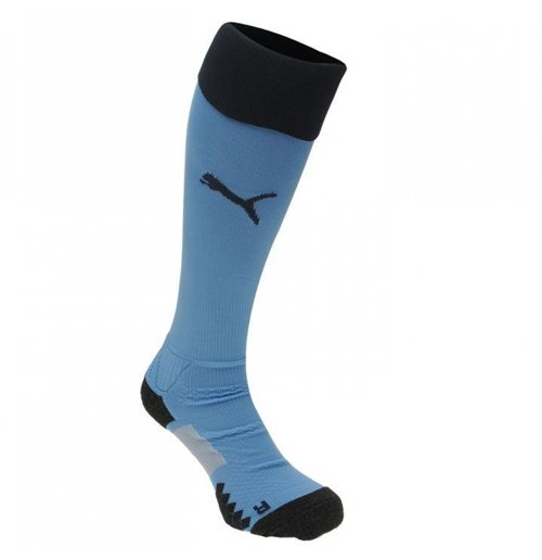 2017-2018 Newcastle Away Football Socks (Blue) - Kids