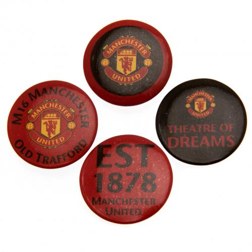 Manchester United F.C. Button Badge Set