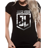 Justice League Movie - Foil Logo - Women Fitted T-shirt Black