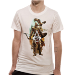 Assassins Creed Origins - Character And Eagle - Unisex T-shirt White