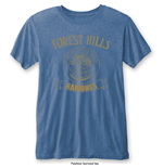 Ramones Men's Fashion Tee: Forest Hills Vintage with Burn Out Finishing