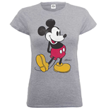 Disney Ladies's Tee: Mickey Mouse Classic Kick