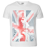 David Bowie Men's Tee: Union Jack & Sax (Sublimation Print)