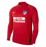 2017-2018 Atletico Madrid Nike Drill Training Top (Red)
