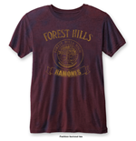 Ramones Men's Fashion Tee: Forest Hills with Burn Out Finishing