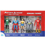 Justice League The New Frontier Bendable Figures 5-Pack 8 cm