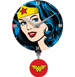 Wonder Woman 3D Mini Motion Wall Clock Swinging Logo