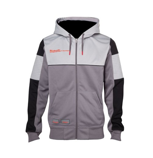 NINTENDO NES Men's Full Length Zipper Hoodie, Large, Multi-colour