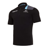 2017-2018 Glasgow Warriors Rugby Poly Cotton Polo Shirt (Black)