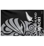 All Blacks Beach Towel Black Maori
