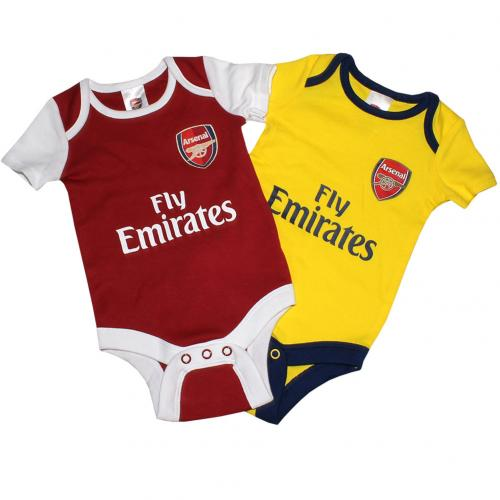 Arsenal F.C. 2 Pack Bodysuit 0/3 mths DR