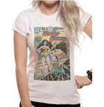 Wonder Woman - Wonder Woman Comic - Women Fitted T-shirt White