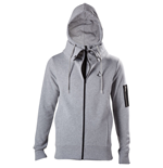 ASSASSIN'S CREED Movie Men's Brotherhood Crest Logo Double Layered Hoodie, Large, Grey