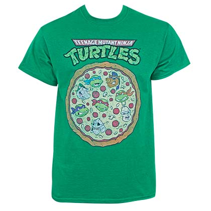 TEENAGE MUTANT NINJA TURTLES Green Pizza Tee Shirt