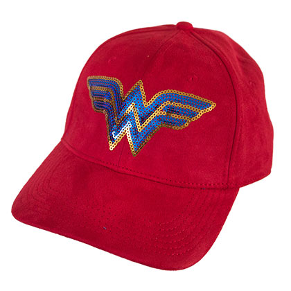 WONDER WOMAN Sequin Logo Suede Hat