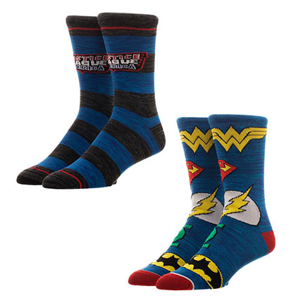 JUSTICE LEAGUE Blue Ankle Socks Set