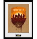 Call Of Duty Wwii Framed Print - Shield - 30x40