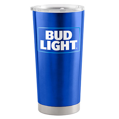 BUD LIGHT 20 Oz Metal Tumbler Cup
