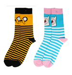 Adventure Time Ladies Socks 2-Pack Jake & Finn