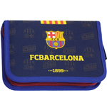 Barcelona FC pencil case filled with 2 flaps 53208