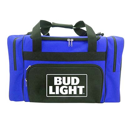 BUD LIGHT Red Duffle Bag Cooler