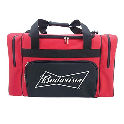 BUDWEISER Red Duffle Bag Cooler