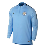 2017-2018 Man City Nike Training Drill Top (Field Blue)