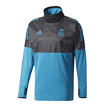 2017-2018 Real Madrid Adidas EU Hybrid Top (Black)
