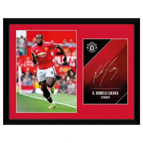 Manchester United F.C. Picture Lukaku 16 x 12