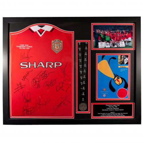 Manchester United F.C. 1999 Champions League Final Signed Shirt (Framed)