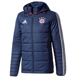 2017-2018 Bayern Munich Adidas Winter Jacket (Navy)