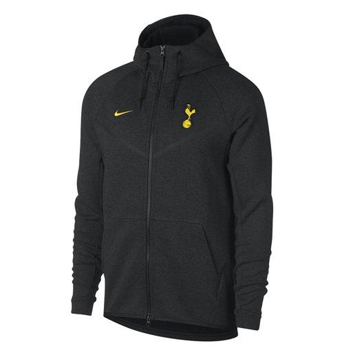 2017 2018 Tottenham Nike Tech Fleece Windrunner Jacket (Black)