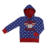 Wonder Woman Ladies Hooded Zip Sweater Logo