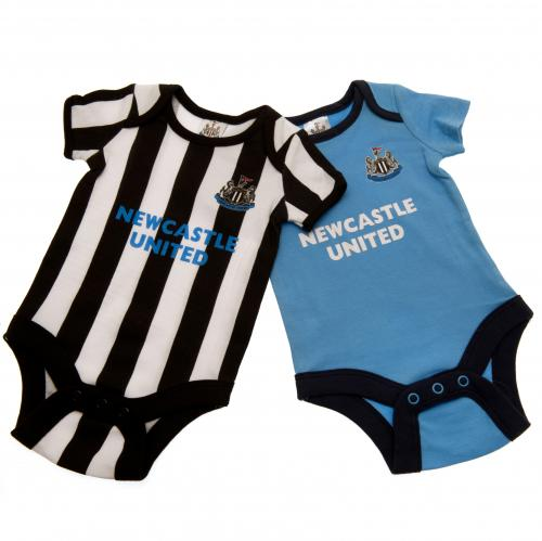 Newcastle United F.C. 2 Pack Bodysuit 6/9 mths ST